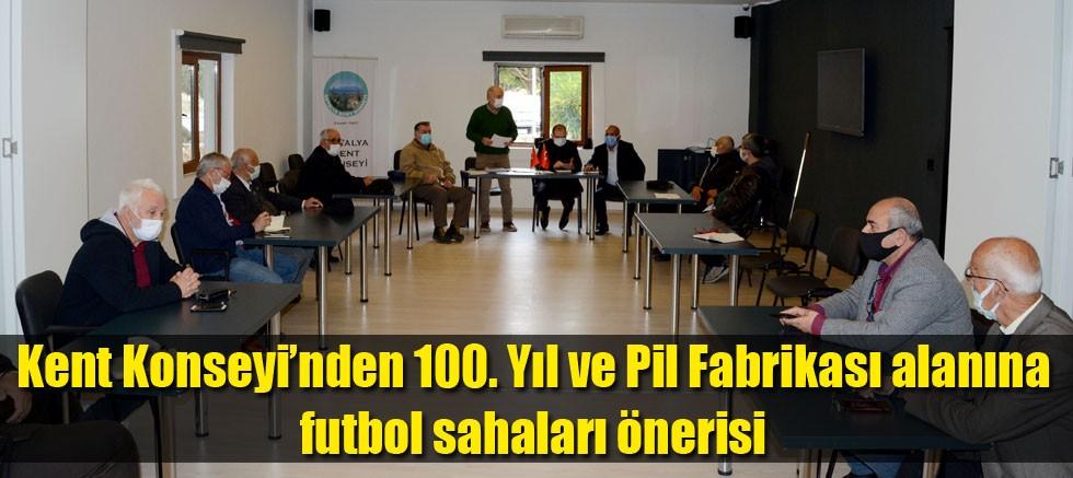 Kent Konseyi'nden 100. Yıl ve Pil Fabrikası alanına futbol sahaları önerisi
