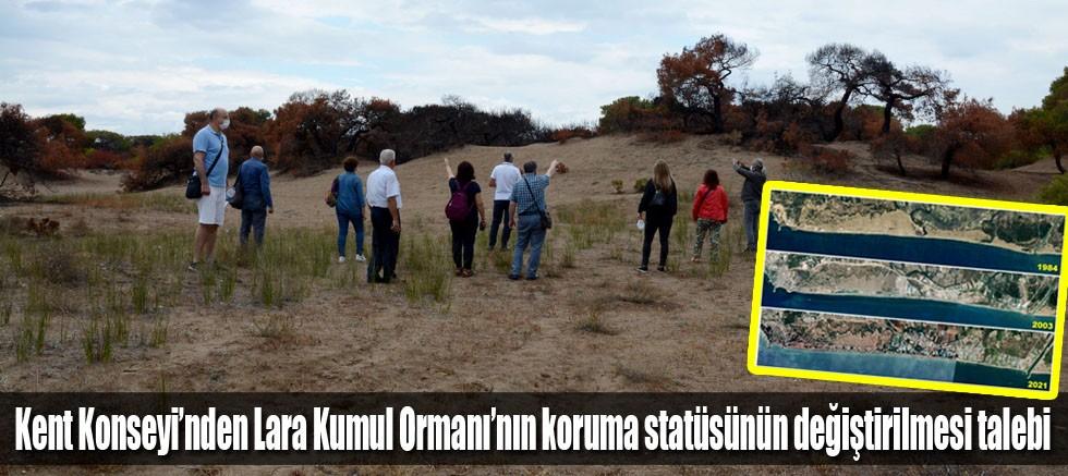 Kent Konseyi'nden Lara Kumul Ormanı'nın koruma statüsünün değiştirilmesi talebi