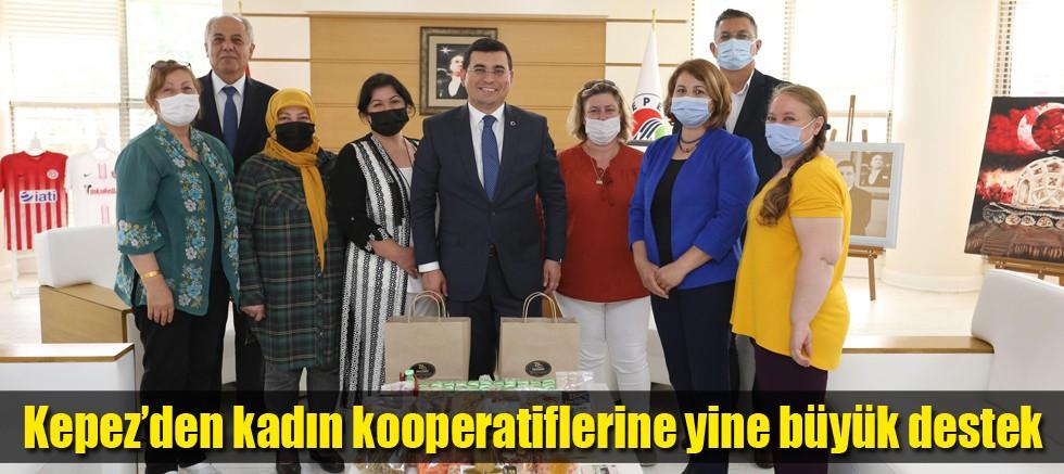 Kepez'den kadın kooperatiflerine yine büyük destek