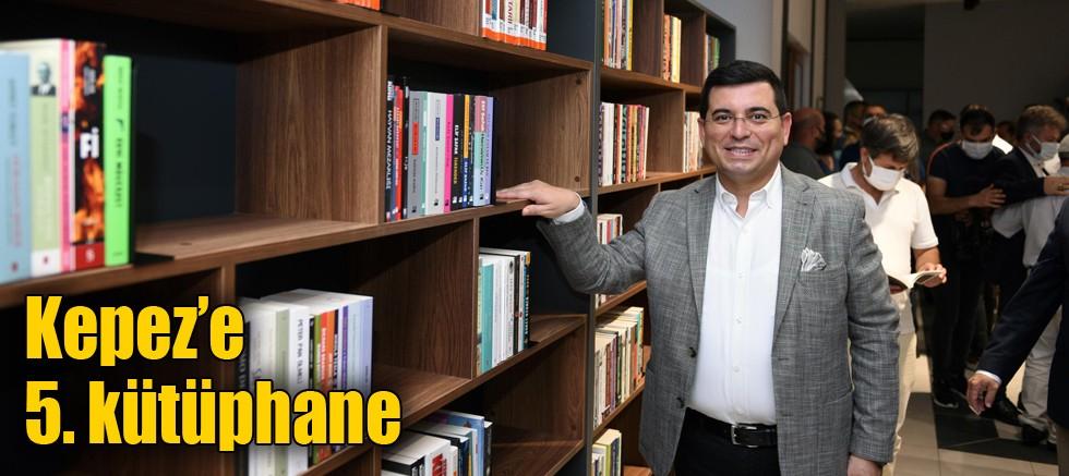 Kepez'e 5. kütüphane