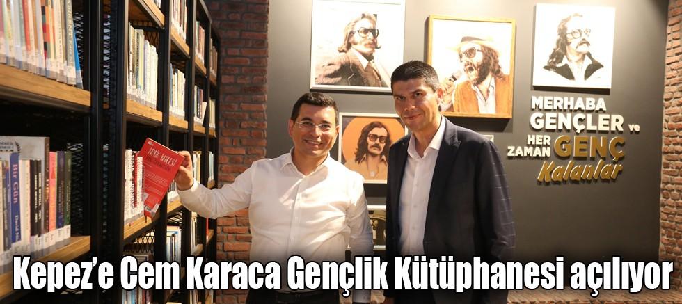 Kepez'e Cem Karaca Gençlik Kütüphanesi açılıyor