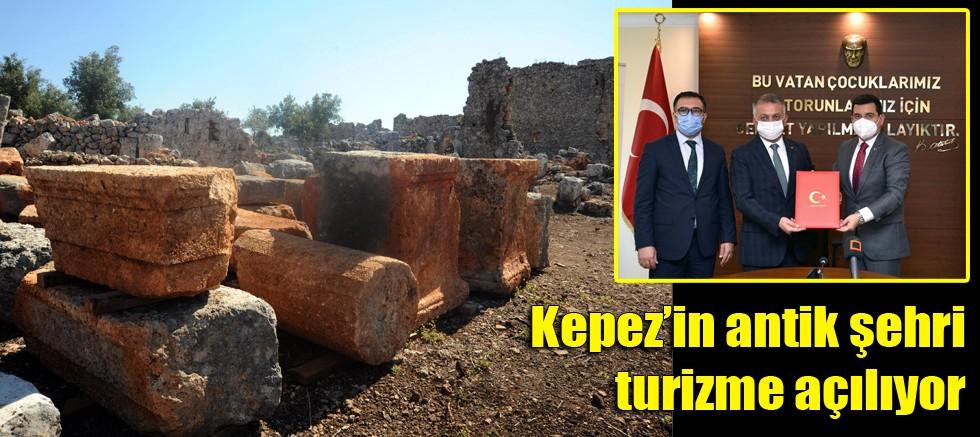 Kepez'in antik şehri turizme açılıyor