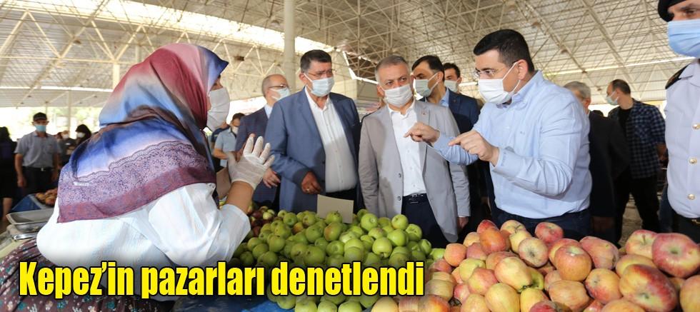 Kepez'in pazarları denetlendi