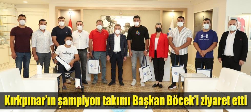 Kırkpınar'ın şampiyon takımı Başkan Böcek'i ziyaret etti