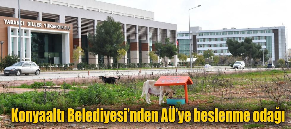 Konyaaltı Belediyesi'nden AÜ'ye beslenme odağı