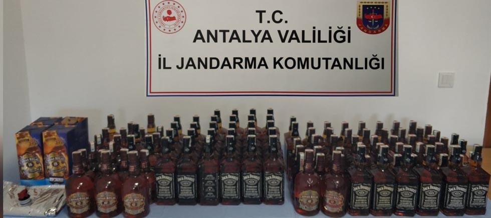 Konyaaltı'nda kaçak içki operasyonu