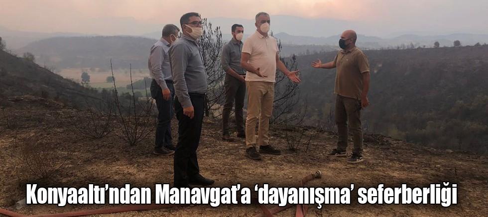 Konyaaltı'ndan Manavgat'a 'dayanışma' seferberliği