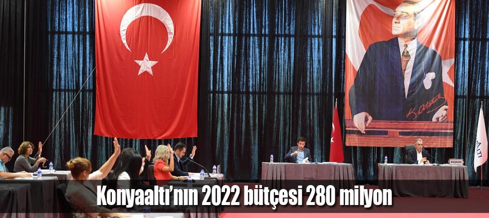 Konyaaltı'nın 2022 bütçesi 280 milyon