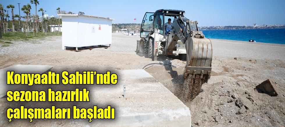 Konyaaltı Sahili'nde sezona hazırlık çalışmaları başladı