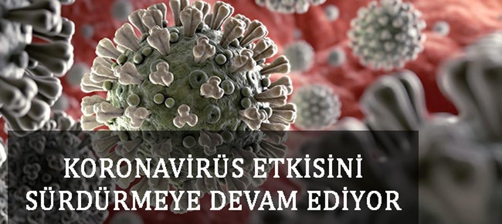 Koronavirüs etkisini sürdürmeye devam ediyor