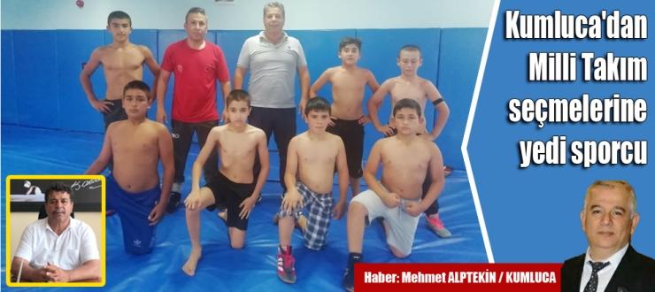 Kumluca'dan Milli Takım seçmelerine yedi sporcu