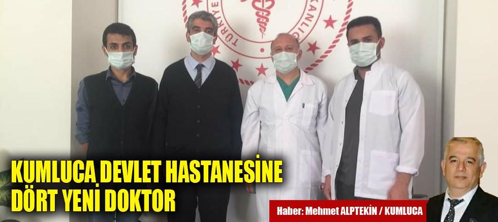 Kumluca Devlet Hastanesi'ne dört yeni doktor