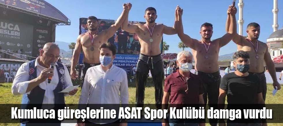 Kumluca güreşlerine ASAT Spor Kulübü damga vurdu