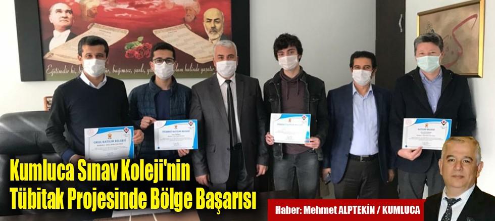 Kumluca Sınav Koleji'nin Tübitak Projesinde Bölge Başarısı