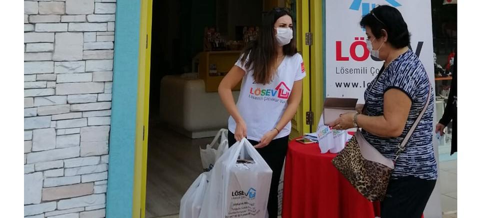 LÖSEV et desteği Antalya dağıtımıyla devam ediyor