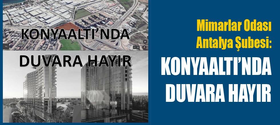Mimarlar Odası Antalya Şubesi:
