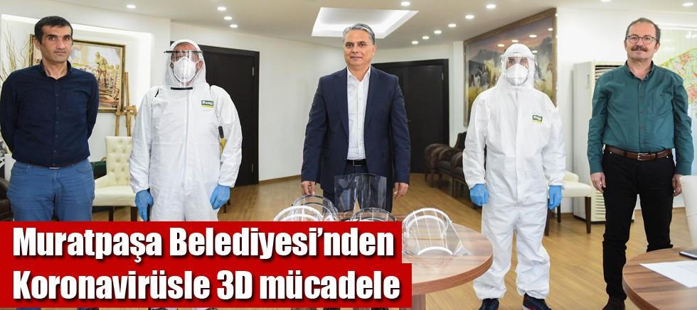 Muratpaşa Belediyesi'nden Koronavirüsle 3D mücadele