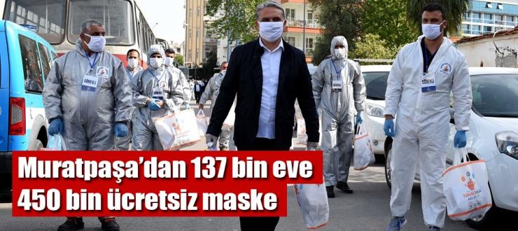 Muratpaşa'dan 137 bin eve 450 bin ücretsiz maske