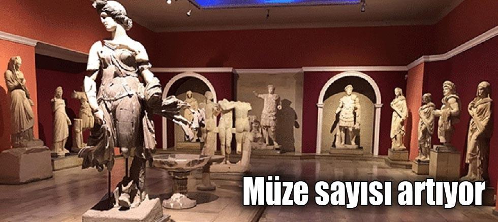 Müze sayısı artıyor