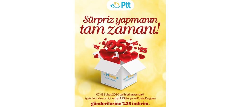 PTT'DEN SEVGİLİLER GÜNÜ'NE ÖZEL İNDİRİM SÜRPRİZİ