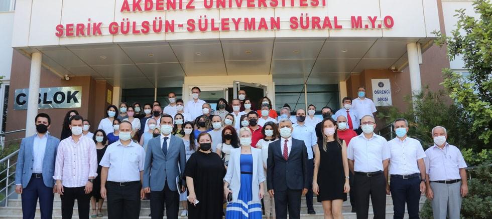 Rektör Özkan, Serik ve Manavgat ilçelerini ziyaret etti