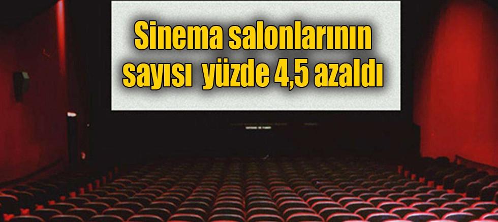 Sinema salonlarının sayısı %4,5 azaldı