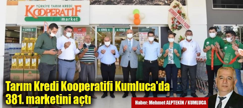 Tarım Kredi Kooperatifi Kumluca'da 381. marketini açtı