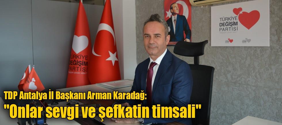 TDP Antalya İl Başkanı Arman Karadağ: