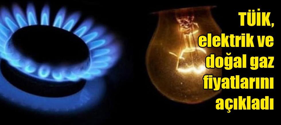 TÜİK, elektrik ve doğal gaz fiyatlarını açıkladı