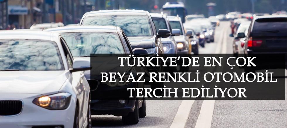 Türkiye'de en çok beyaz renkli otomobil tercih ediliyor