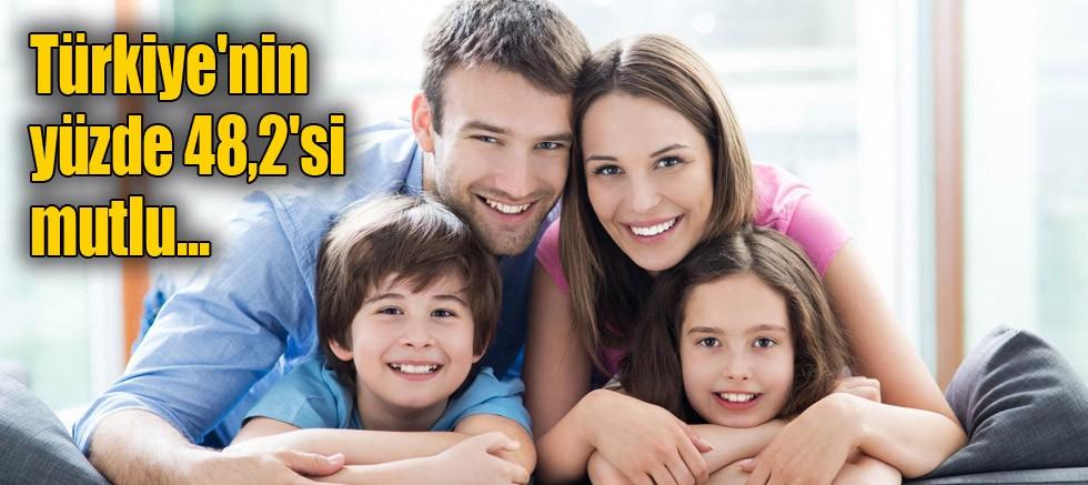 Türkiye'nin %48,2'si mutlu...