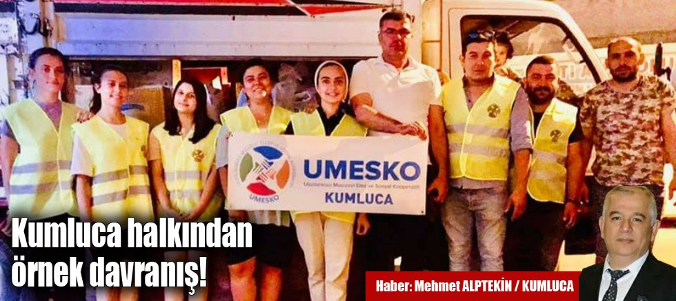 UMESKO yardımlaşmayı örgütlüyor