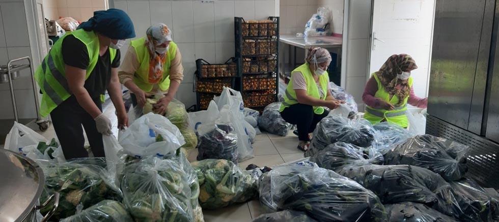 Üreticinin elinde kalan sebzeler vatandaşlara dağıtıldı