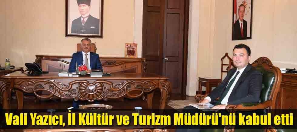Vali Yazıcı, İl Kültür ve Turizm Müdürü'nü kabul etti