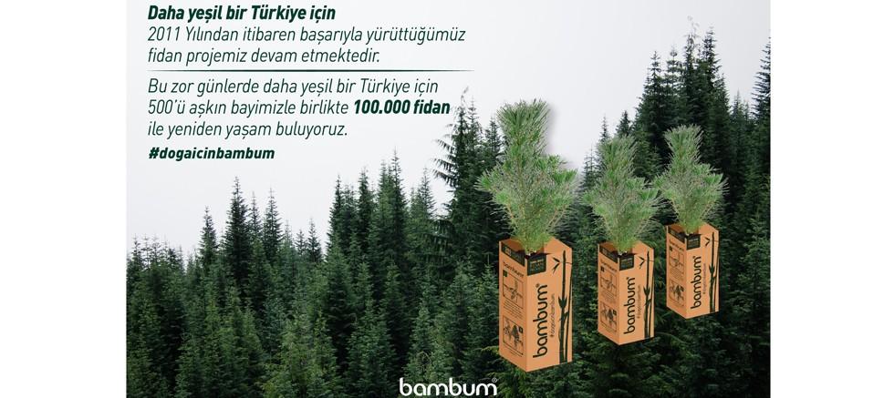 Yeşil Bir Türkiye İçin 100 Bin Fidan Dağıtımı